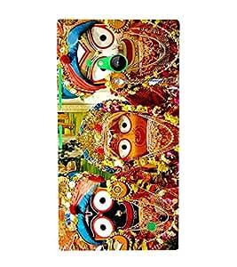 Fiobs Designer Back Case Cover for Nokia Lumia 730 Dual SIM :: Nokia Lumia 730 Dual SIM RM-1040 (Krishna Bansuri Hindu Play Music Jagannath Puri )