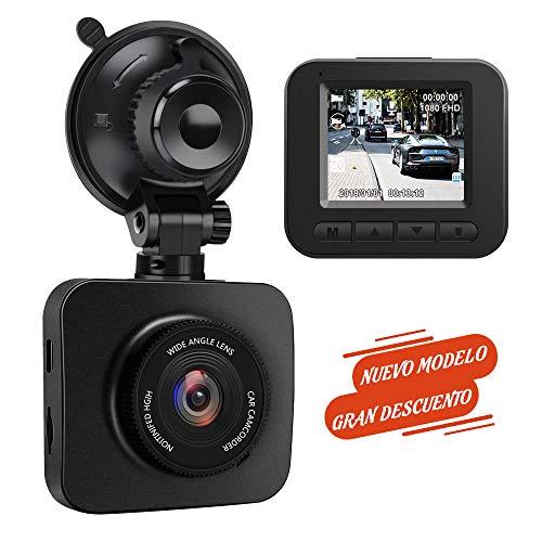 AWESAFE Caméra Auto Dash CAM 1080P Full HD 170 Angle avec capteur G WDR, détection de mouvement, enregistrement en boucle, vision nocturne, moniteur de stationnement