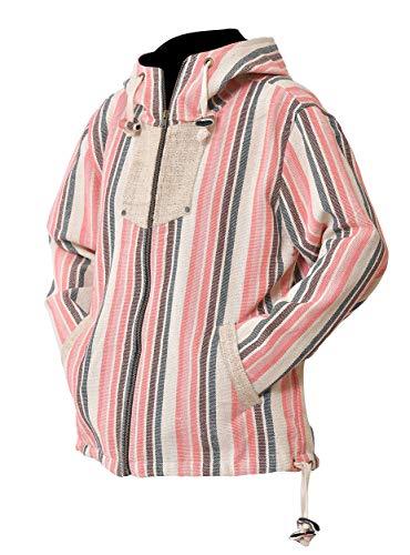 virblatt - Baja Hoodie Damen Hippie Jacke und Ethno Jacke ALS Alternative Kleidung - Tibet S