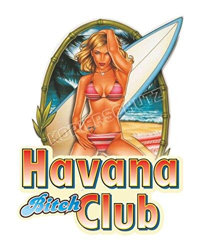 Pin Up Aufkleber/Sticker Havana Club (10cm) (Club-aufkleber)