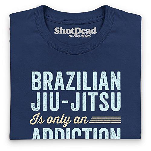BJJ Addiction Langarmshirt Funny Novelty Gift, Herren Dunkelblau
