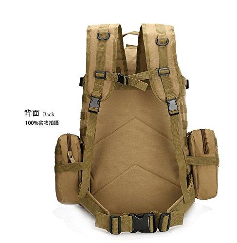 Borse a tracolla per gli uomini della outdoor alpinismo sacchetti combinazione multifunzionale camouflage zaino borsa per computer 50*37*21cm, nero modello python Nero