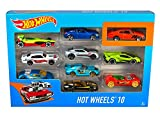 Since their debut in 1968, hot wheels vehicles have been an enduring favourite of collectors, car enthusiasts and racing fans of all ages. The 10-pack assortment includes a variety of vehicles. Each car is featured at 1: 64 scale with realistic detai...