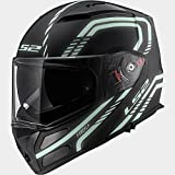 503242211/L Modular Helm LS2 Ff324 Rapid Firefly black-light Größe L