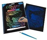 Royal Langnickel RAIN15 - Engraving Art/Kratzbilder, DIN A4, Frosch, regenbogenfarbe