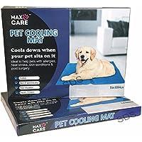 Perro Gato Mascota refrigeración Cool Alfombrilla de gel para cama 60x 44cm, color azul by maxcare