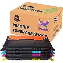 HaloFox 4 Cartuchos de tóner CLT-404 para Samsung Xpress SL-C430 SL-C430W SL-C480FW SL-C480 SL-C480W SL-C480FN SL-C480FW Impresora