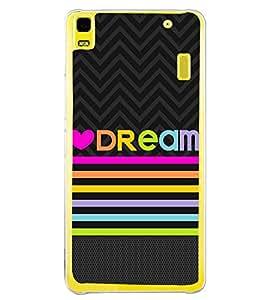 PrintVisa Tangerine Dream Quote High Gloss Designer Back Case Cover for Lenovo K3 Note :: Lenovo A7000 Turbo