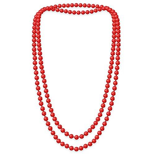 8 Kostüm Größe Magenta - SoulCats Eine süße Kette Perlenkette Perlen viele Farben XXl lang pink blau creme, Farbe:rot;Kettenlänge:148 cm