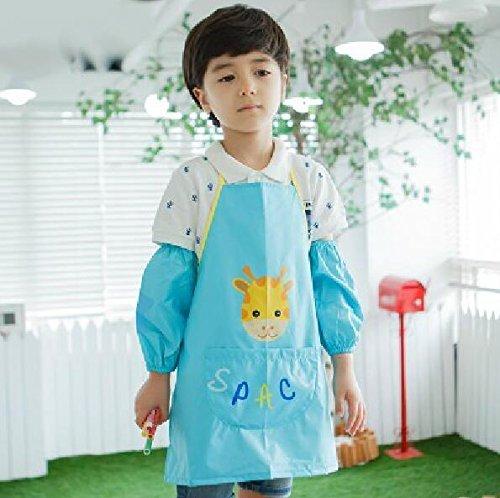 SunnyGod Hausfrau-Schürze Kinder, die Schürze niedliches Muster-Rotwild-Schutzblech mit...