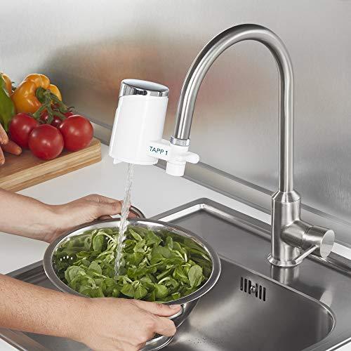 Tapp 1 – Wasserfilter Für Den Wasserhahn Von Tapp Water (Reduziert Chlorgehalt, Kalk, Schwermetalle), Weiß, Chrome, 1500 Liter - 5