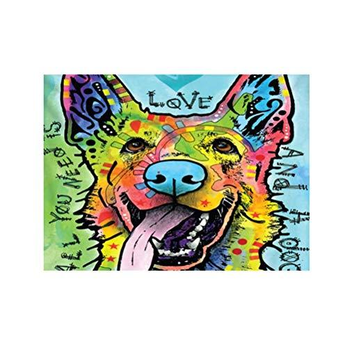 JHIN Colorido del Tapiz Colgante Lindo del Modelo del Perro para la...