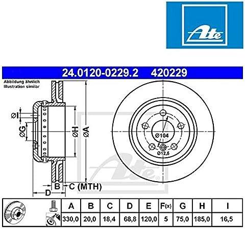 ATE 24.0120-0229.2 Brake Disc