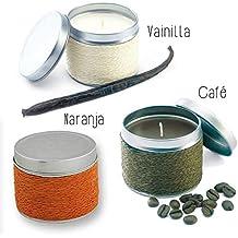 Lote de 18 Velas Fragancia Naranja, Café y Vainilla. - Velas para Bautizos Detalles