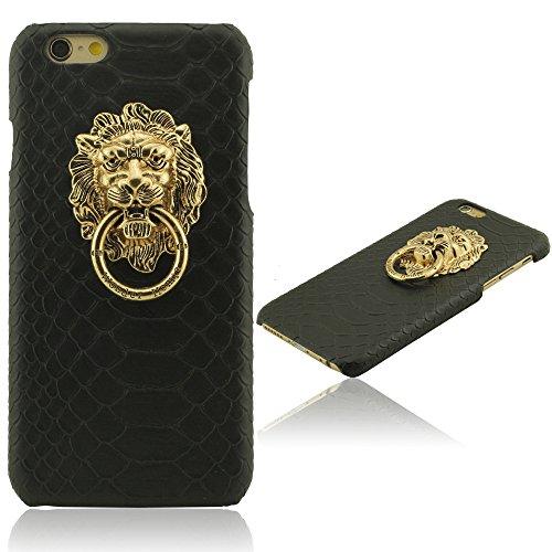 iPhone 6 6S Hülle Handy Tasche schutzhülle, Creative Design Metall Löwe Kopf und Tierwaagen Haut, Starr Schwer Plastic Material, Sonder Case Cover für iPhone 6 6S 4.7 Zoll ( iPhone 6 Plus 6S Plus 5.5  B