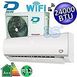 Climatizzatore inverter mono split FROZEN R32 24000 Btu DILOC classe A++/A++ funzione smart WIFI