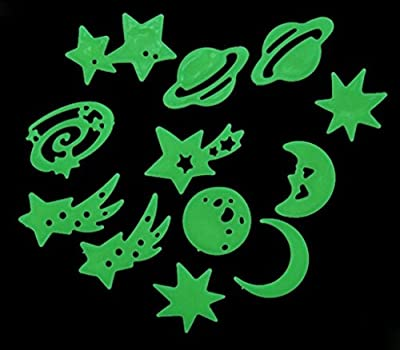 RuiChy Glow In The Dark Plastic Stars Stickers Baby Kids Ceiling Wall Room - inexpensive UK light shop.