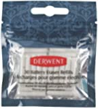 Derwent Replacement Erasers for Battery Operated Eraser Pack of 30