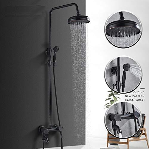 SDMQW Duschsystem Bronze Messing Wand montiert 8