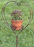 KUHEIGA Gartenstecker Herz H: 133cm Breite: 35cm Steckherz Herz rost