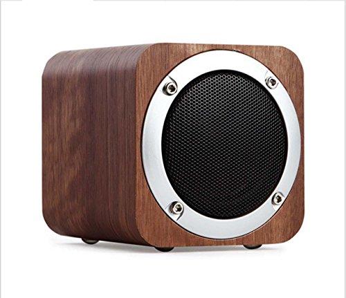 Original de teléfono móvil de madera inalámbrica Bluetooth de audio de madera sólida teléfono Bluetooth altavoz regalo tarjeta de altavoz portátil , black walnut color