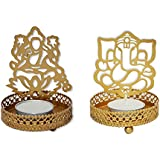 Laxmi Ganeasha Tealight Candle Holder (Combo Set)