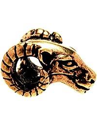 Bartperle Lockenperle Bronze Widder