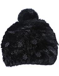 Qiaoba- Le chapeau de tricot chaud élégant de l'hiver de la fille