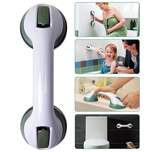 Haltegriff mit Saugnapf, Anti-Rutsch Sicherheitsgriff Badezimmer Wandhaltegriff Griffstangen für Bad Badewanne WC, für Fliesen, Wände, Glas