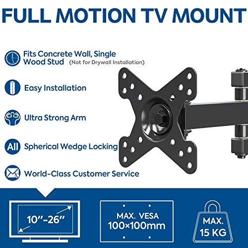 Mounting Dream MD2463-02 TV Monitor Wandhalterung für die meisten 10-26 Zoll LED, LCD Flachbildschirm TV und Monitore, mit Schwenkbar Gelenkarm, bis VESA 100 x 100 mm und 15 kg - 8