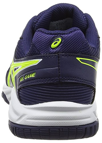 Asics Gel-Game 5 Gs, Scarpe da Tennis Unisex – Bambini Bianco (White/indigo Blue/safety Yellow)