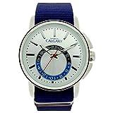 Relojes Calgary New Ashbury. Reloj Vintage para Hombre Correa de Tela Color Azul, Esfera Color...