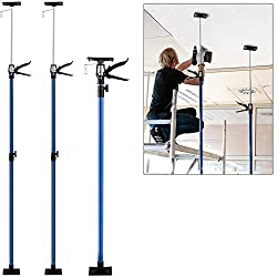 2x Ceiling Prop Adjustable Height Load Capacity 30kg Steeltube Support
