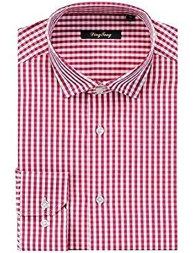 Ding Tong - Camisa casual - Cuadrados - Clásico - para hombre