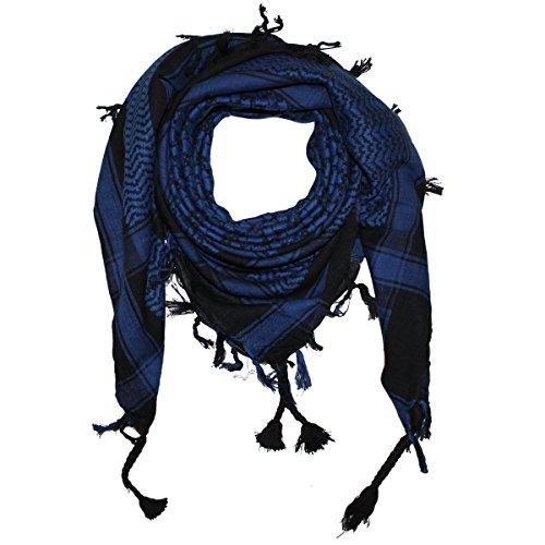 Shemagh 100x100cm 100% Baumwolle schwarz/dunkel-blau