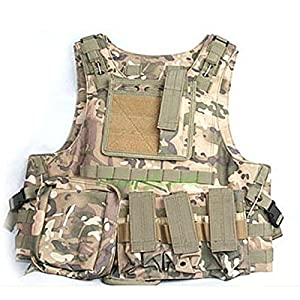 Militaire Armée Airsoft Paintball Assault Tactique Chasse FSBE Style Transporteur MOLLE Combat Gilet Multicam (MC)