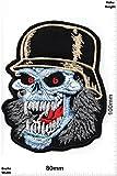 Patch - Totenkopf - Stahlhelm - HQ - Cool Brands Patch - Streetwear - Vintage - Patches - Aufnäher Embleme Bügelbild Aufbügler