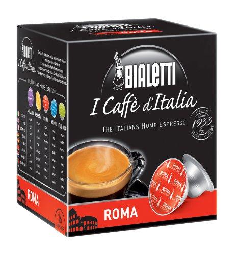 Bialetti 96080092/M - Caffè in capsule Roma, in alluminio, 16 pezzi