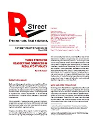 Three Steps for Reasserting Congress in Regulatory Policy: R Street Institute Policy Study