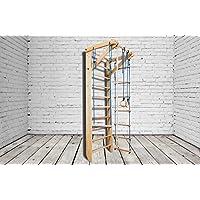 ¡Construcción robusta! Zona de juegos de madera para interior KN-02-220 Escalera sueca Complejo deportivo de gimnasia