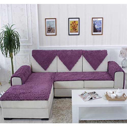 Unbekannt Sofa Handtuch, Sofa Kissen Verschlüsselung Chenille Europäischen Ledersofa Rutschfeste Jahreszeiten Plüsch Stoff Sofa Handtuch A (Farbe : #2, größe : 60 * 180CM(24 * 71inch))