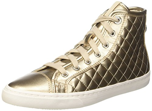 Geox Damen D New Club A High-Top, Gold (Champagne/Lt Taupecb5h6), 40 EU