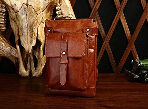 Leder Schulter Mann Männer geschleudert Tasche Handtaschen Mode und Freizeit Beutelpackung 3