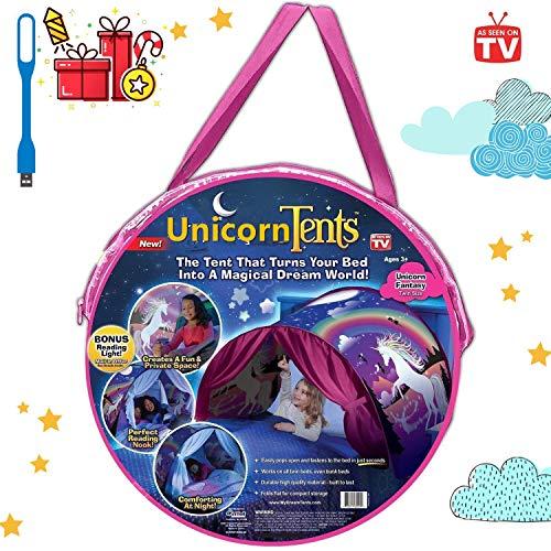Dream Tents Spielzelte Bettzelt Bettzelt Traumzelt Kid's Fantasy Kinder Schlafzimmer Dekoration Kinder Lesen (Licorne)