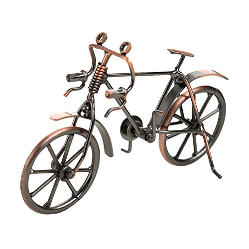 VORCOOL Deko Fahrrad Vintage Eisen Kunst Fahrrad Modell Sammlereisen Skulptur Dekoration (Bronze) - Eisen Kunst