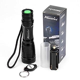 alonefire LED-Taschenlampe, taktische Maelstrom-Taschenlampe, zur Selbstverteidigung, Hochleistungslampe, XML T6,schwarz, mit Druckschalter, 5Modi, für Sport/Zelten, SKU1720, 145mm