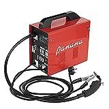 AnaellePandamoto Poste à Souder Semi-Automatique Sans Gaz Turbo MIG100 IP21, 50-80A, 50Hz, Taille: 34*18.3*34cm, Poids: 13kg, Rouge + Noir
