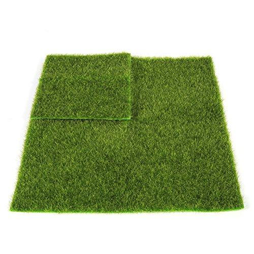 FTVOGUE Micro Paesaggio Prato (30* 30cm) in plastica Prato Giardino, 30 * 30cm