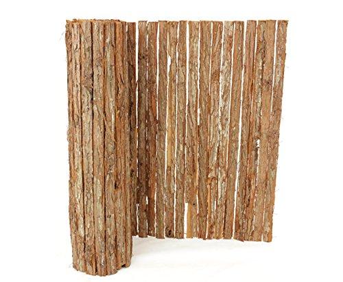 bambus-discount.com Rindenmatte Südtirol Premium-Qualität - 90 x 300cm - Sichtschutzmatten Windschutz Matten