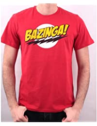 T-Shirt Big Bang Theory BAZINGA Red - Licence Officielle